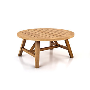 crosby teak coffee table 3D model