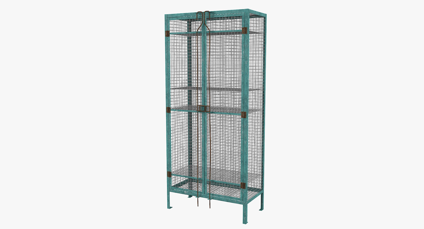 3D vintage wirework locker model