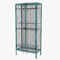 3D vintage wirework locker model