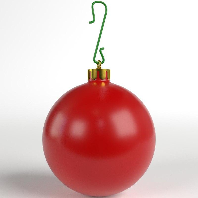 3D christmas ball matte
