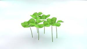 3D model clover