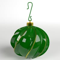 twisted christmas ball 3D model