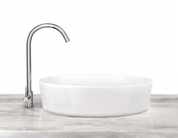 ceramic sink chrome faucet 3D model