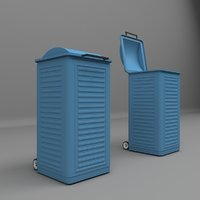 city garbage container 3D