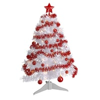 3D white christmas tree model