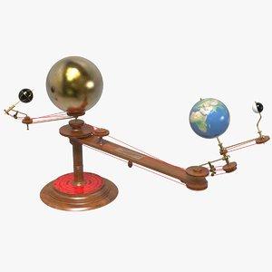 3D model planetarium orrery