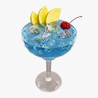 3D blue margarita