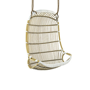 double hanging rattan chair 3D model