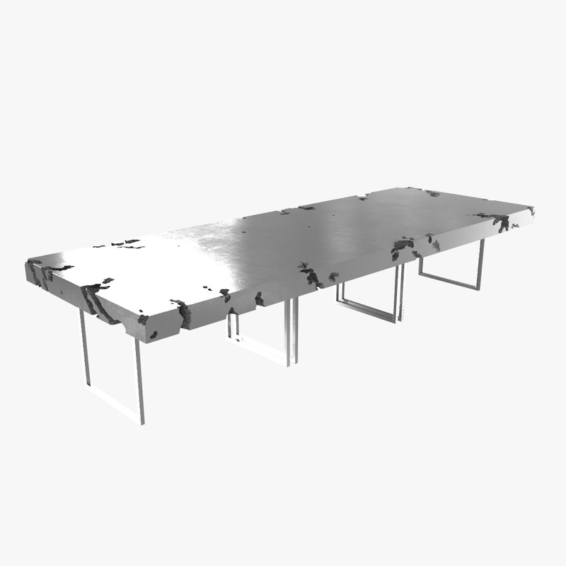 table custom communal 3D
