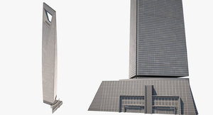 shanghai world financial center 3D model