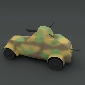 3D model ursus wz 29