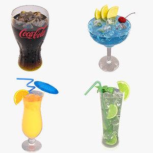 cocktail set glass 3D model