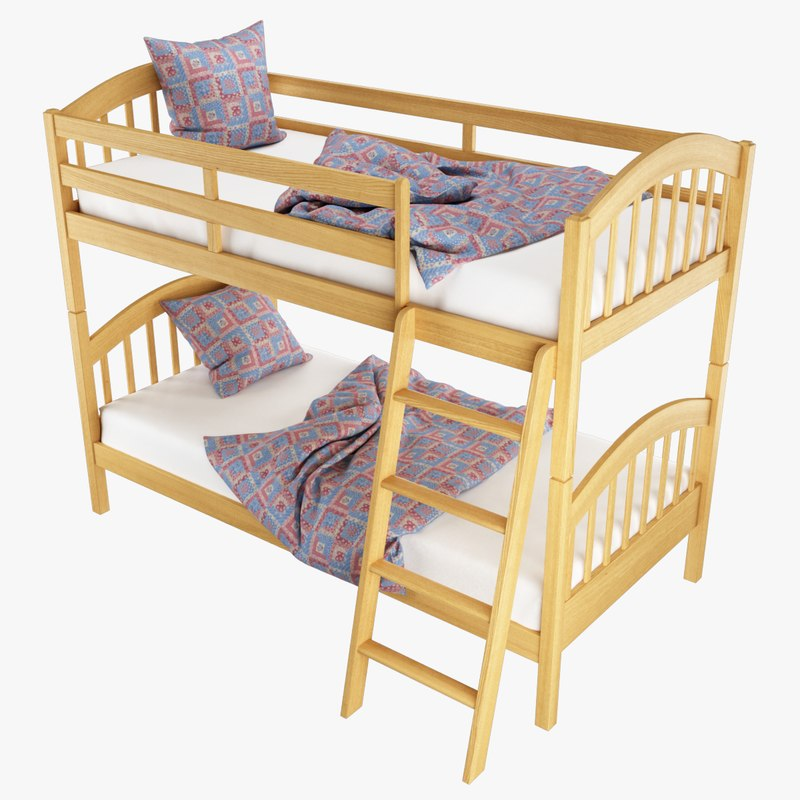 bunk bed virtus 3D