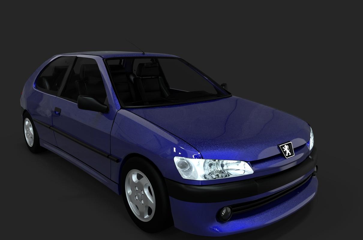 306 hatchback peugeot 3D model