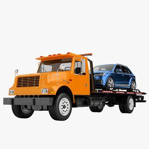tow truck big 3D model