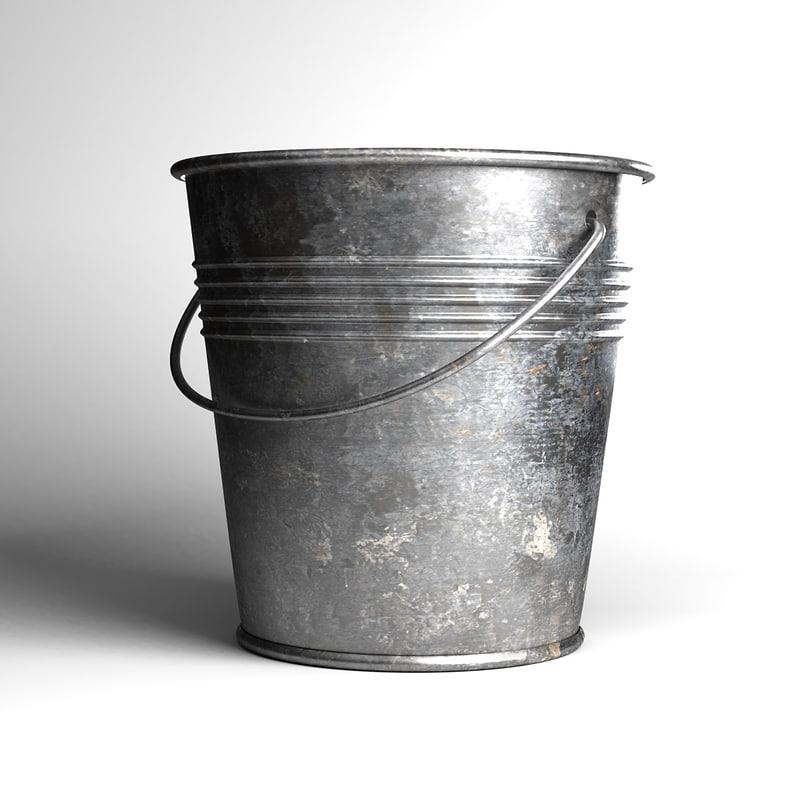 Metal Milk Bucket