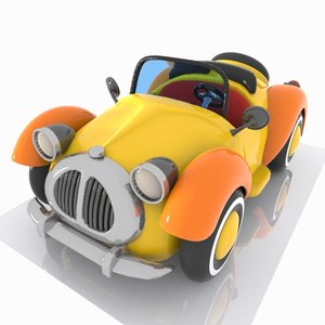 convertible car toon 3D