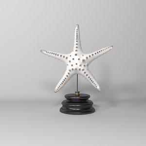 3D model tiger starfish