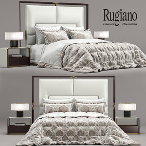3D rugiano grace bed model