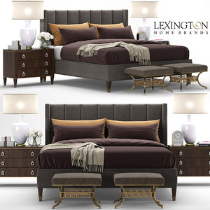 3D model lexington barrington bed interior
