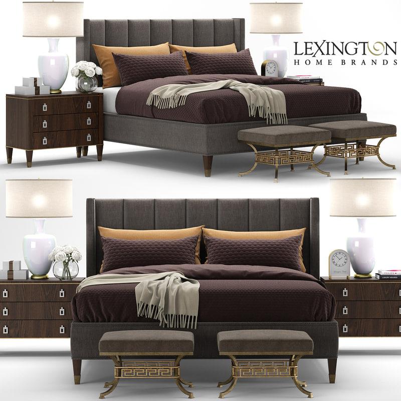 3D model lexington barrington bed interior