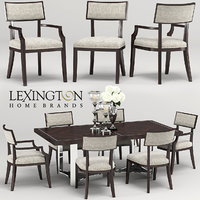 lexington whittier-beverly palace table-chair 3D model
