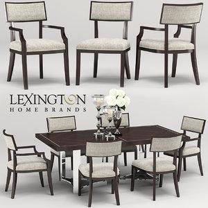 lexington whittier-beverly palace table-chair 3D model