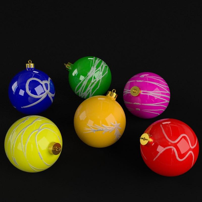 3D decorative christmas balls model