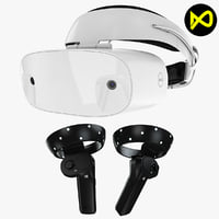 3D dell visor headset