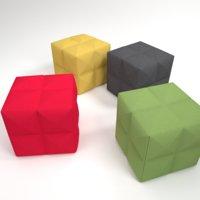 interior buzzicube pouf 3D model
