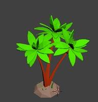 3D coconut tree