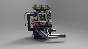 auto engine 3D model