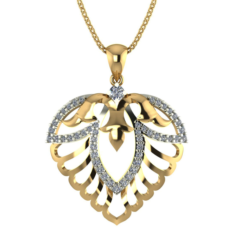 3D pendant weight 18k 3 model