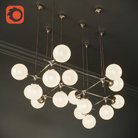 tribeca loft chandelier maximum 3D