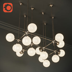tribeca loft chandelier maximum 3D