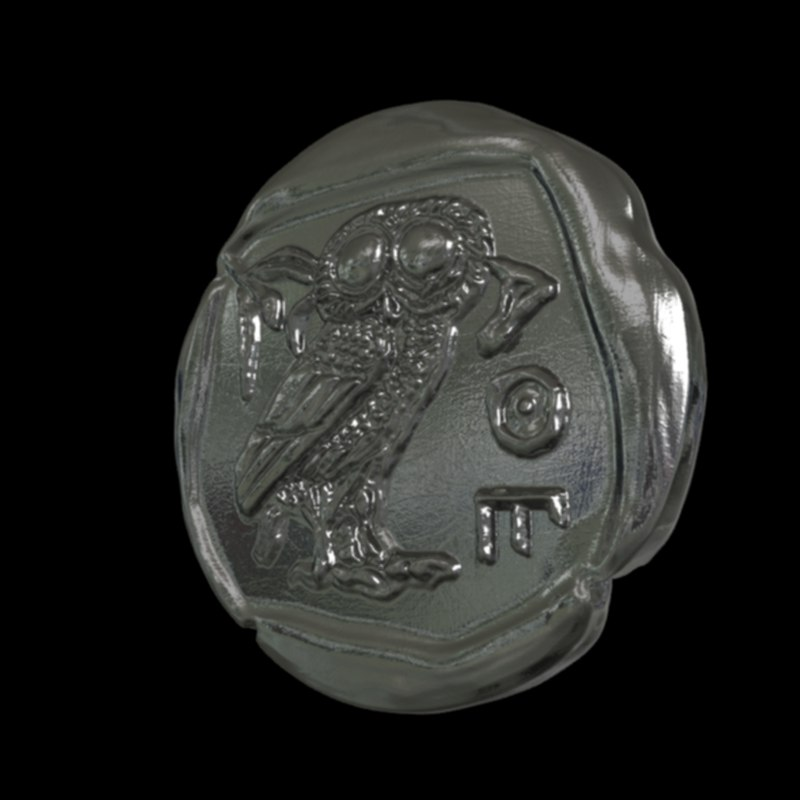 3D model coin print athena