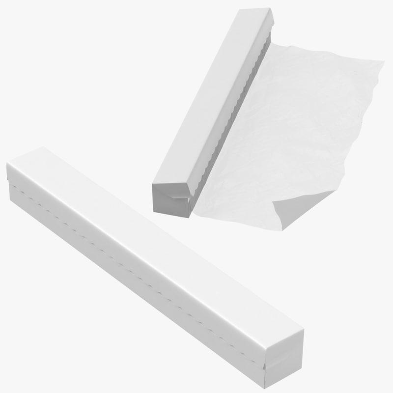 plastic wrap boxes 3D model