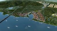 3D city scene 05 model
