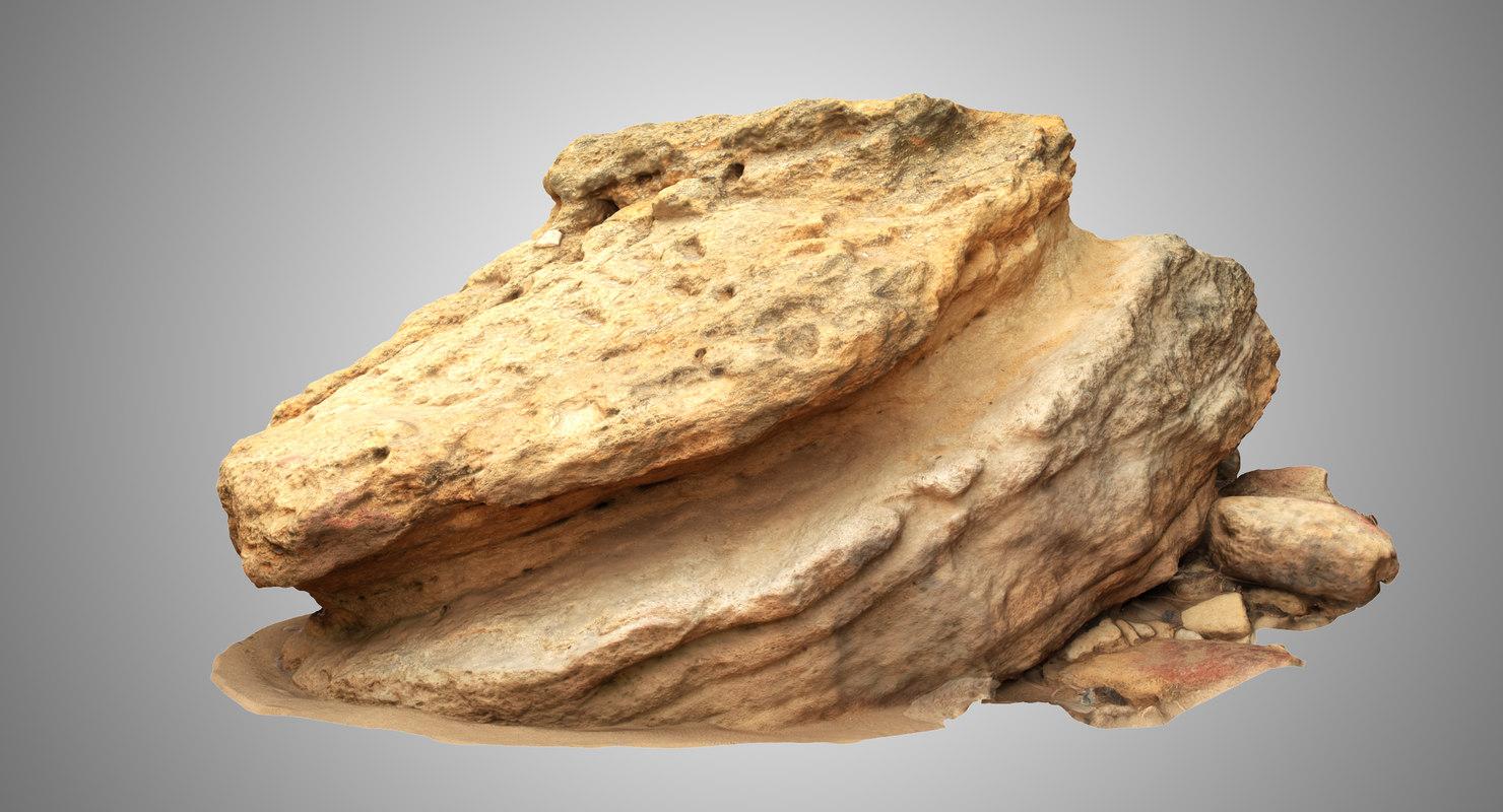3D model limestone 4