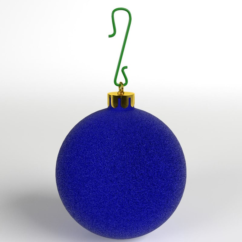 christmas ball frosted 3D model