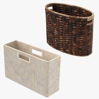 3D magazine baskets