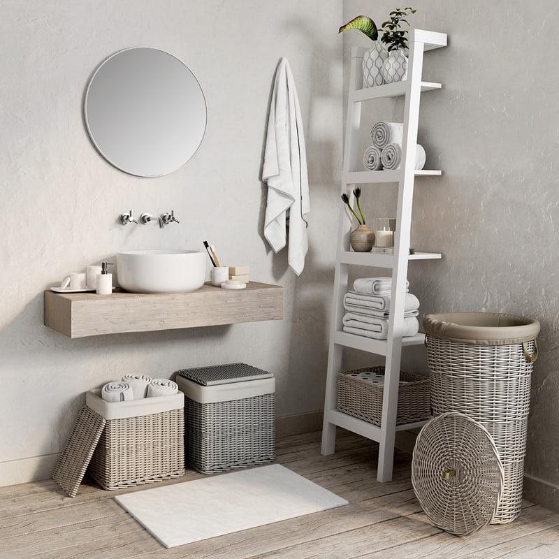 3D bathroom 1 model