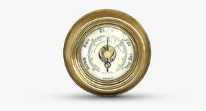 3D vintage barometer shortland bowen model