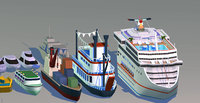 cruiseship freedom seas 3D model