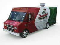 fast-food mini-van real-time 3D model
