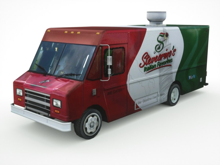 fast-food mini-van real-time 3D model