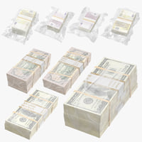 3D wrapped bill euro money