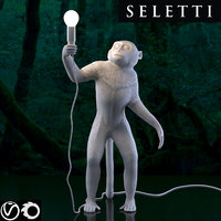SELETTI The Monkey Lamp Standing