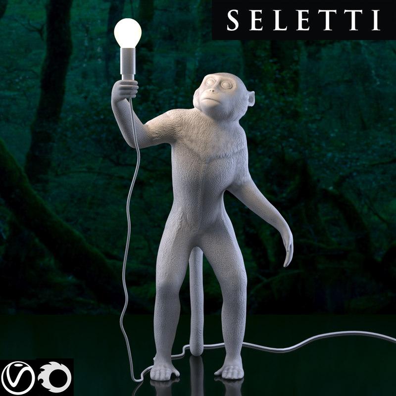seletti monkey lamp standing 3D model