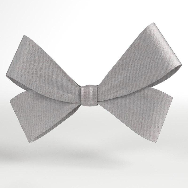 3D model bow ribbon 4